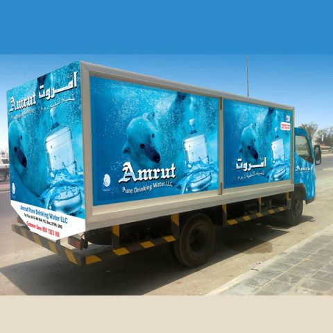 vehicle wrapping amrut water
