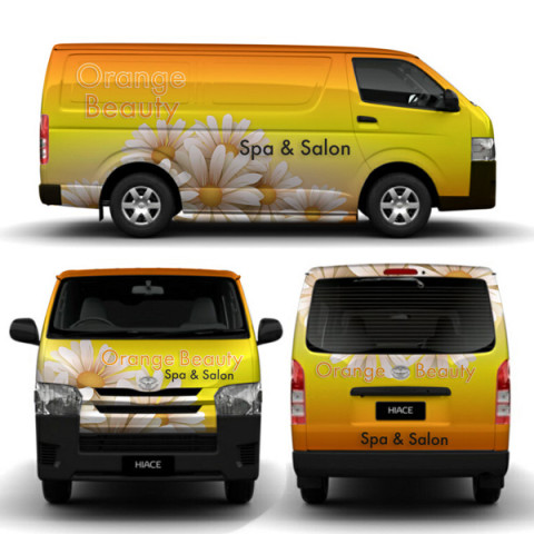 Orange Salon Vehicle Wrapping
